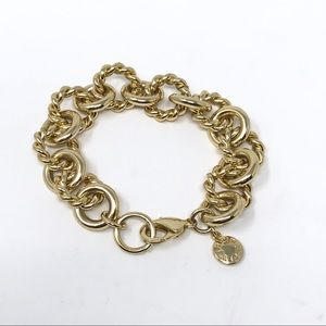 J. Crew Gold Twisted Chain Link Bracelet